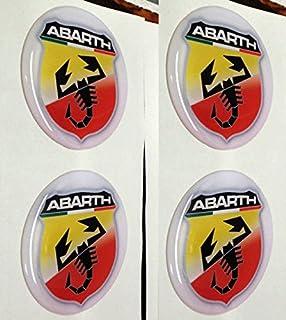 Adhesivos de resina para embellecedor Fiat Abarth, 2 colores ...