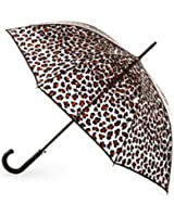 Totes Clear Bubble Umbrella (One Size, Clear/Leopard)