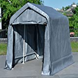 Quictent Garage Shed Storage Carport with Auger Anchors and Ratchets for Keeping Lawn Equipment and Motorcycles
