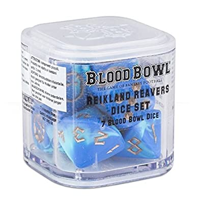 Blood Bowl The Game of Fantasy Football Reikland Reavers Dice Set (7 Blood Bowl Dice) by Warhammer