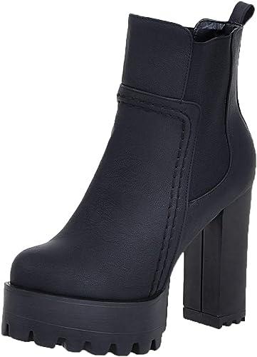Caradise Womens High Heel Chunky