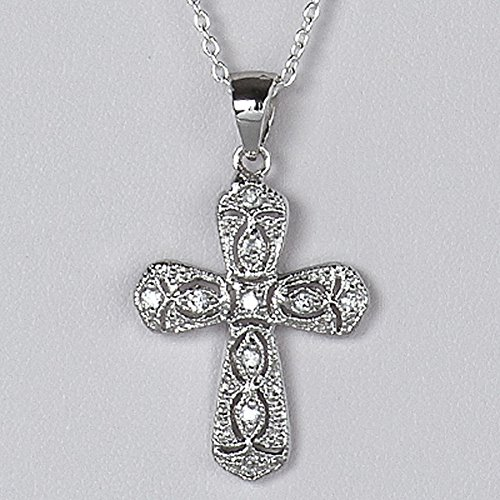 (Sterling Silver Antique Filigree Cross Pendant Custom Christian Charm 925 Italy Jewelry Making Supply Pendant Bracelet DIY Crafting by Wholesale Charms)