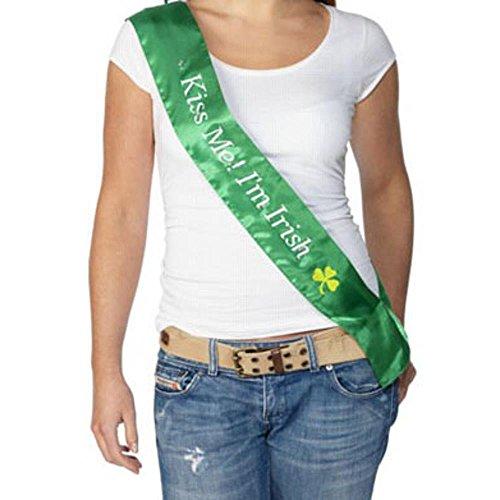 Adult Kiss Me I Am Irish Costume Sash - Adult Kiss Me I Am Irish Sash