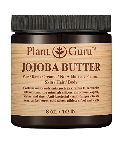 Jojoba Body Butter 8 oz. 100% Pure Raw Fresh Natural Cold Pressed. Skin Body and Hair Moisturizer, DIY Creams, Balms, Lotions, Soaps.