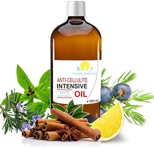 100 Natuurlijke Anticellulitis Olie massage koerperoel 6 keer beter dan cellulitis crème met etherische olin tegen cellulitis 500 ml