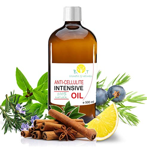 Aceite Anti Celulitis 500 ml Con Aceites Esenciales Triple accion drenante, quema grasa y reafirmante
