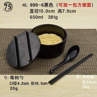 JHFIHOJ vajilla de mesa con fideos japoneses Lamian Ramen Sop, Tazón de sopa de palillos y cucharas de melamina de plástico, juego de vajilla picante 75: Amazon.es: Hogar