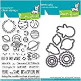 ShopForAllYou Stamping & Embossing''Out of This World'' Clear Photopolymer Stamps Set and Matching Dies