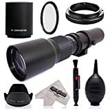 Super 500mm/1000mm f/8 Manual Telephoto Lens for Panasonic Lumix DMC GM5, GH4, GM1, GX85, GX8, GX7, GF6, G7, G6, GH3 G1, GH1, GF1, G10, G2 GH2 and GF2 Digital Cameras