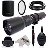 Super 500mm/1000mm f/8 Manual Telephoto Lens for Pentax K-1, K-S2, K-S1, K-500, K-50, K-30, K5 IIs, K-7, K-5, K-3 II, K-2, K-X, K20D, K100D, K110D and K10D Digital SLR Cameras Advantages Review Image