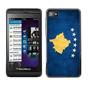 Be Good Phone Accessory // Dura Cáscara cubierta Protectora Caso Carcasa Funda de Protección para Blackberry Z10 // National Flag Nation Country Kosovo