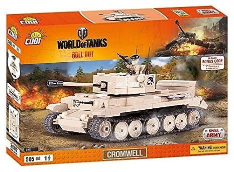 COBI 3002 World Cromwell Tank (505 Pcs) Wargaming Toy, Beige