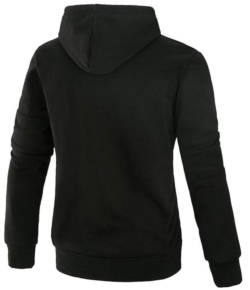 Joe Wenko Mens Casual Drawstring Pocket Hooded Pullover Sweatshirts Jacket