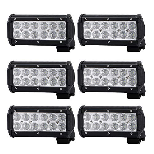 Led Light Pod 7inch Spot Off Road Driving Led Light Bar Waterproof For Jeep Van Camper Wagon Atv Awd Suv 4wd 4x4 Pickup Trucks 36w Pack Of 6