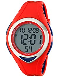 Roots Men's 1R-AT120RE1R Robson Digital Display Quartz Red Watch