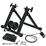 ZENY Magnet Bike Trainer Stand w/ 8 Levels Resistance Stationary Steel Bicycle Indoor Exercise Trainer Stand (Black #2) For Sale