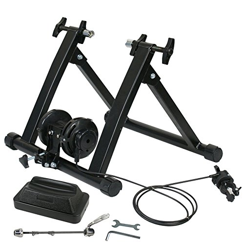 BBBuy Portable Indoor Bike Trainer Exercise Stand with 8 Levels Variable of Magnetic Resistance (Black #2)