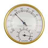 Golden 4-inch Dial Thermometer Hygrometer for Sauna Room Thermo-hygrometer