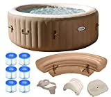 Intex Pure Spa 4-Person Inflatable Portable Hot Tub Ultimate Bundle Package For Sale