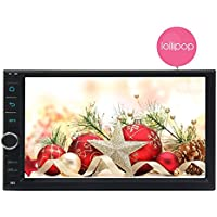 Eincar 7 inch Car Stereo Lollipop Android 5.1 Double Din in Dash Quad-Core CPU GPS Navigation Auto Audio Radio Wifi Bluetooth RDS SD/USB/3G/4G/OBD2/ Apple Play Mirrorlink Parking System Remote Control