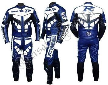 Amazon.es: Yamaha-R traje de piel de 2 piezas azul con para ...