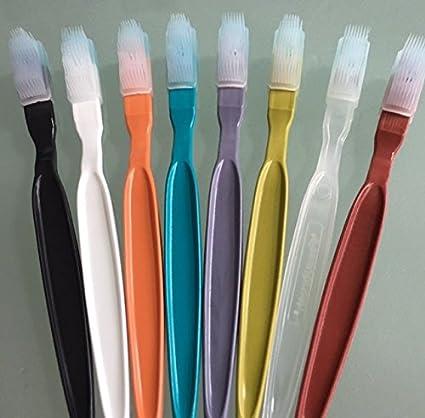 Push desechables cepillo cepillo de dientes de viaje con pasta de dientes en cabeza X 1