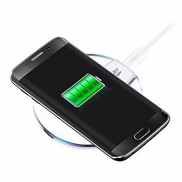Kloius Cargador Inalámbrico para Carga del Dock Pad para iPhone 8/8 Plus (sin Cable USB)