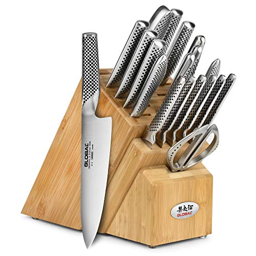 Global Knife Set - Global Knife Set - 20 Piece - Bamboo Block