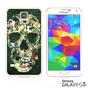 OnlineBestDigitalTM - Skull Pattern Hardback Case for Samsung Galaxy S5 - Floral Skull Pattern