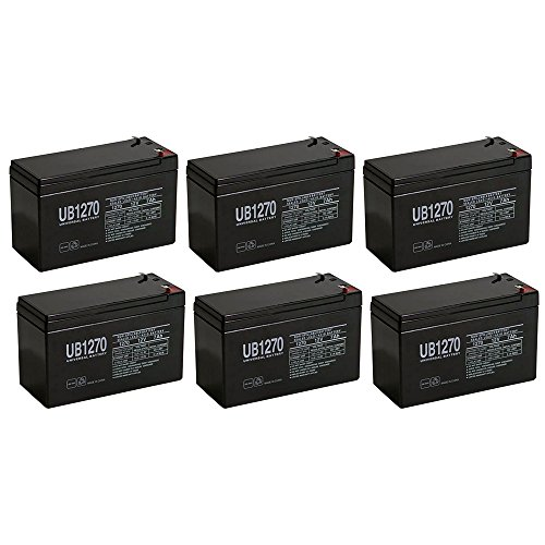12V 7Ah SLA Battery for Altronix AL175ULX - 6 Pack (Power Supply Al175ulx)