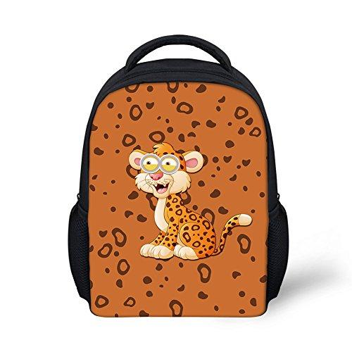 Orange Zebra Mini Backpack - Lovely Squirrel Mini Backpack Durable Children Preschoolers Daypack Boys Kids