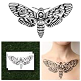 detailed Tattify Detailed Moth Temporary Tattoo - Changeling (Set of 2) - Other Styles Available and Fashionable Temporary Tattoos