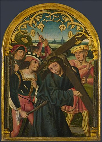 'German, North-Christ Carrying The Cross,about 1490-1510' Oil Painting, 8x11 Inch / 20x28 Cm ,printed On High Quality Polyster Canvas ,this Vivid Art Decorative Canvas Prints Is Perfectly Suitalbe For Kitchen Gallery Art And Home Decoration And Gifts