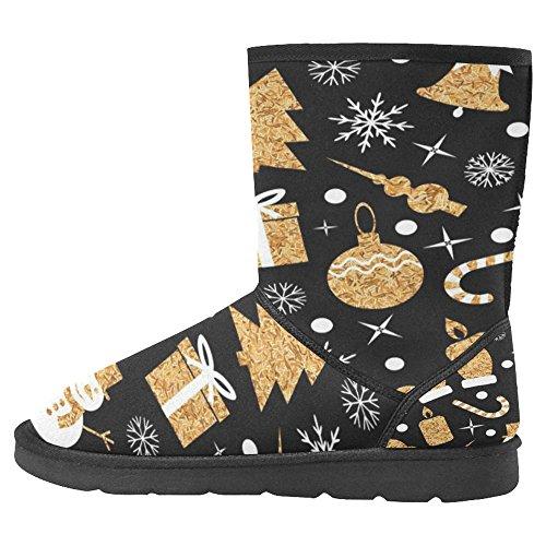 InterestPrint Womens Snow Boots Unique Designed Comfort Winter Boots Multi 14
