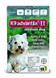 K9 Advantix II Flea, Tick and Mosquito prevention for Medium Dogs 11 - 20 lbs,  6 doses