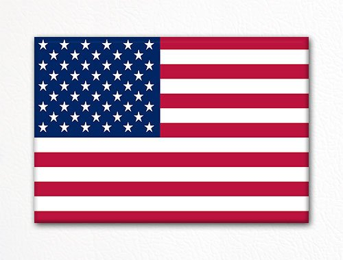rica American Flag USA Fridge Magnet ()