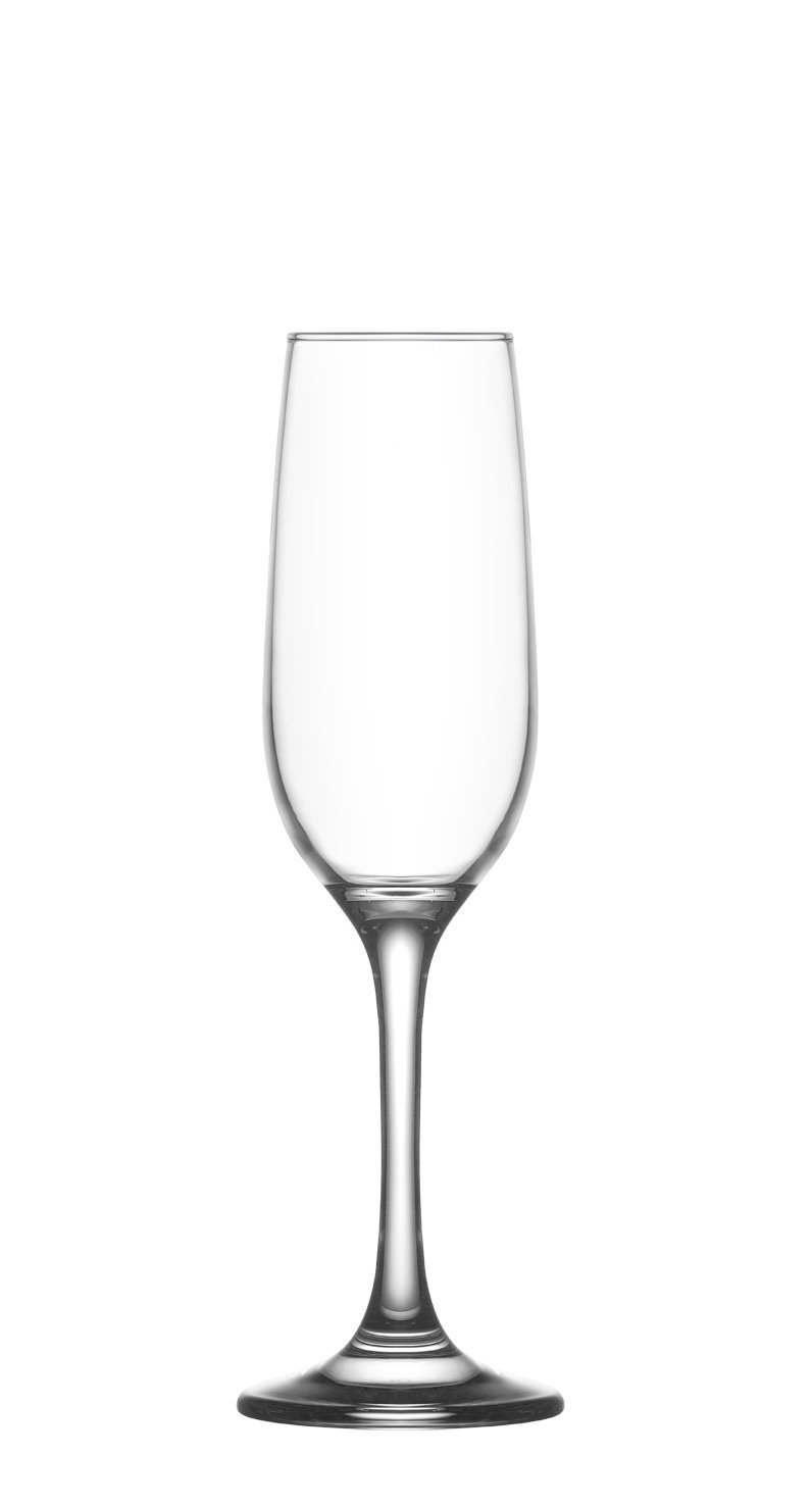 Lav Glass Champagne Flutes, Prosecco Glasses Set of 6-7.25 oz