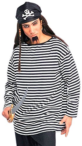Forum Novelties Men's Striped Costume Shirt, Black/White, Standard