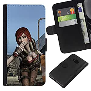 Stuss Case / Funda Carcasa PU de Cuero - Hot Gaming Girl Character Lilith B0Rderlands - HTC One M9