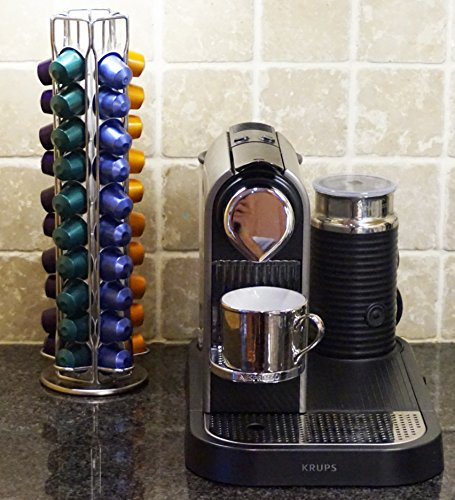 kuuk nespresso coffee pod carousel rotating rack holds 50 capsules kitchen in the uae see. Black Bedroom Furniture Sets. Home Design Ideas