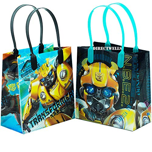 Transformers Bumblebee 12 Small Reusable Good Quality Party Favor Goodie Gift Bags -