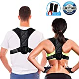 Posture Corrector for Women Men Kids, Free Gift for 2 Soft Armpit Pads, Adjustable Kyphosis Posture Corrector for Women Under Clothes, Effective Back Brace for Pain Relief Improve Thoracic Kyphosis