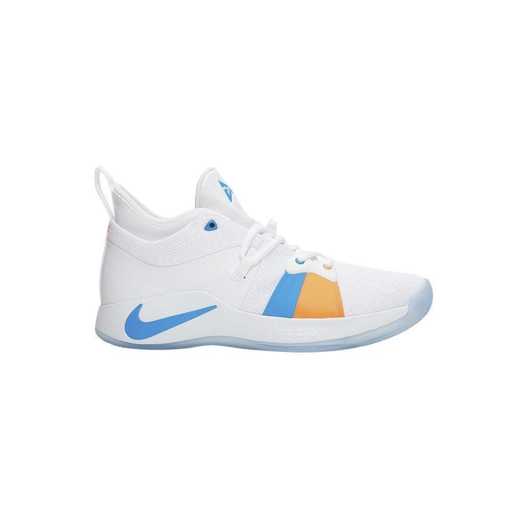 e509be819d257 Galleon - NIKE Men's PG 2 Basketball Shoes,(White/Blue,14 D (M) US)
