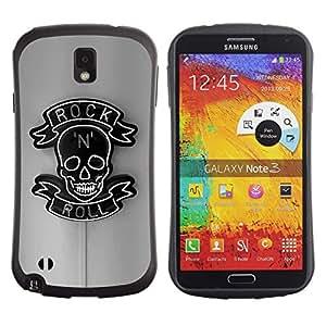 Fuerte Suave TPU GEL Caso Carcasa de Protección Funda para Samsung Note 3 N9000 N9002 N9005 / Business Style Rock Roll Sign Neon Bar Pub Black