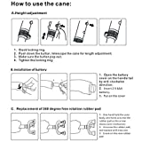 KingGear Travel Adjustable Folding Canes and