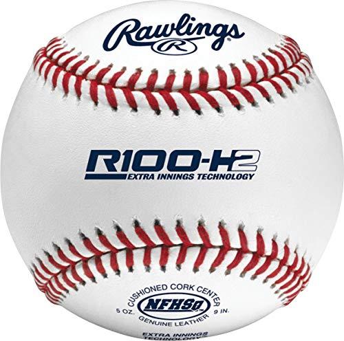 High School Official Baseball - Rawlings Raised Seams Official NFHS High School Baseballs, 12 Count, R100-H2