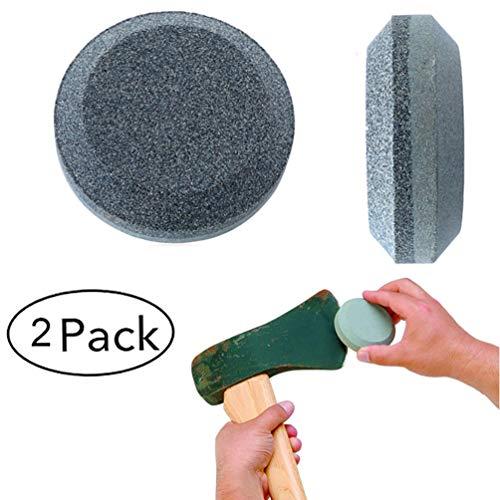 TureLaugh Dual Grit Multi-Purpose Sharpener, SuperThinker Blade & Tool Sharpener Stone for Sharpen Machetes, Axes, hatchets (2pack)
