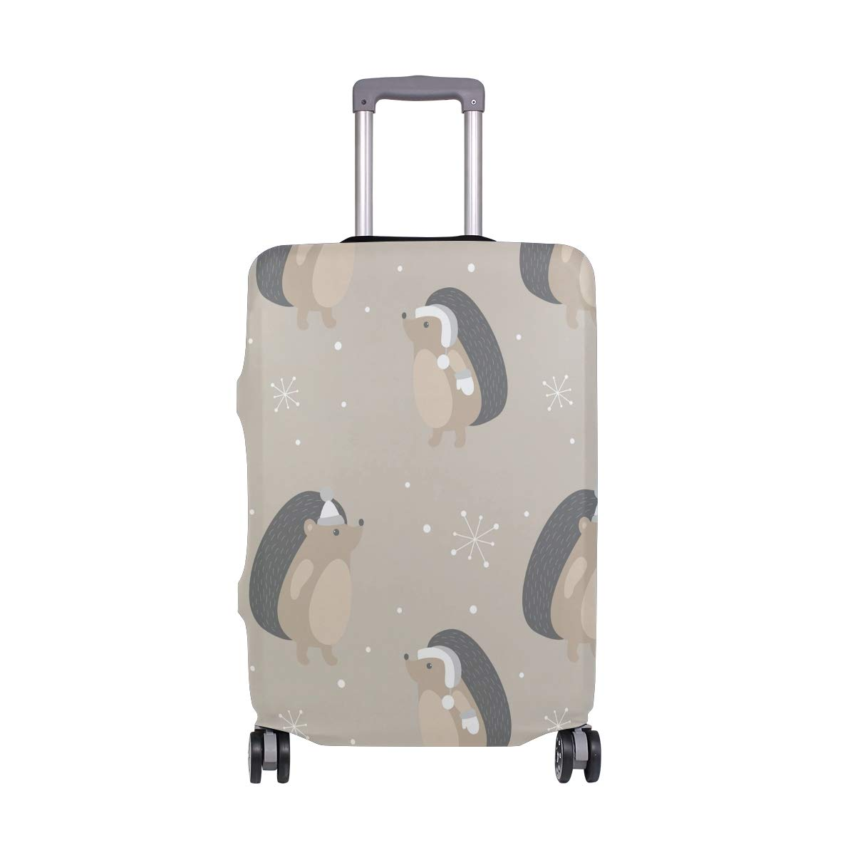 Travel Luggage Cover Cute Cartoon Animals Hedgehog Elastic Suitcase Protector Washable Baggage Covers Fits 18-32 inch