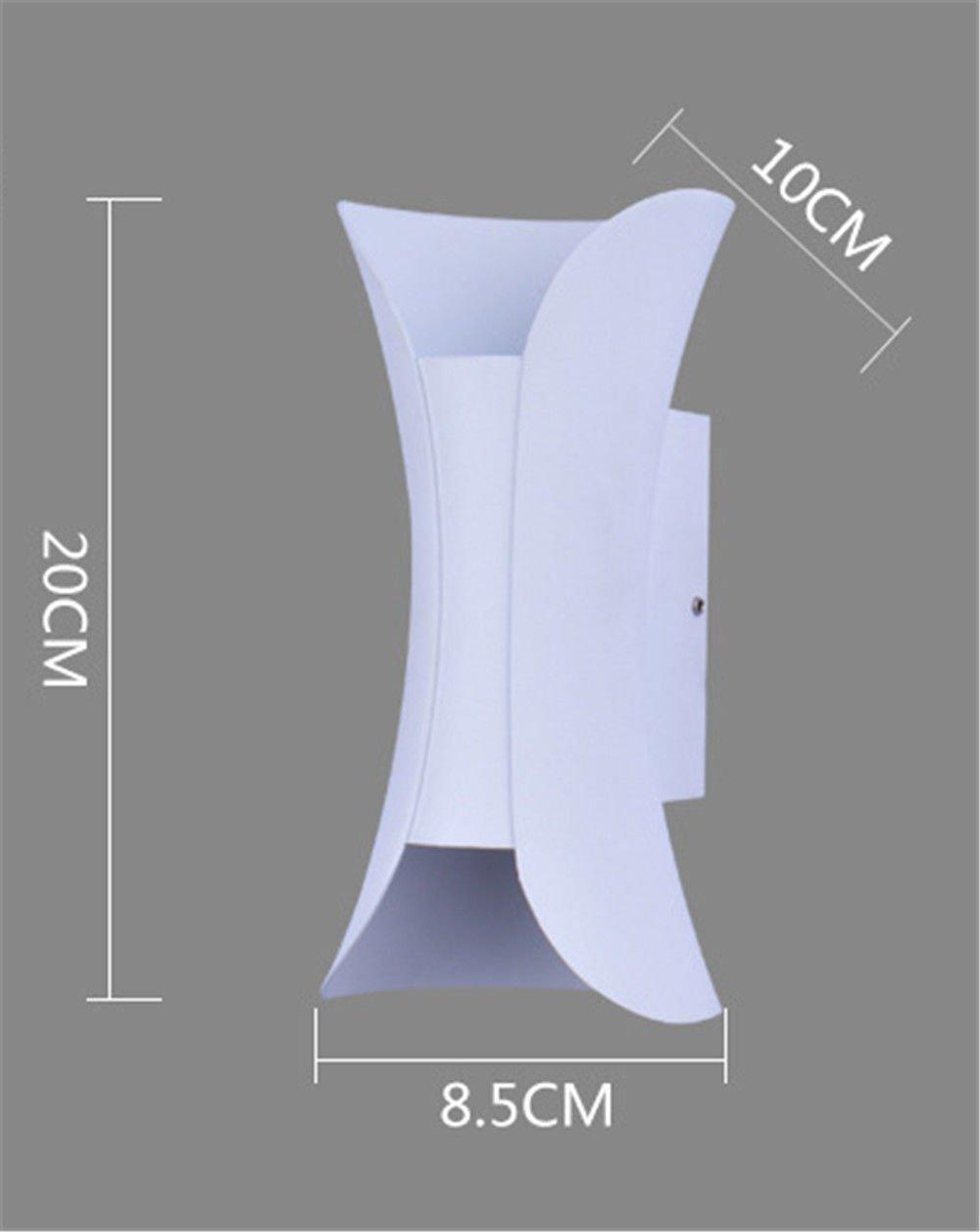 StiefelU LED Wandleuchte nach oben und unten Wandleuchten Wandleuchten led Indoor Outdoor wasserdicht, 6000 K, Sand weiß 10.