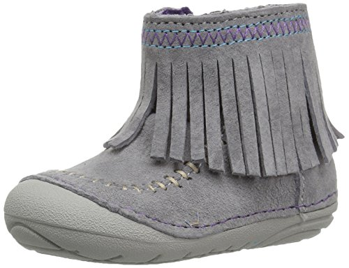Stride Rite Girls' Soft Motion Tasha Fashion Boot, Grey, 6 Wide US Toddler